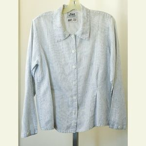 Women's FLAX Button Up Blouse S